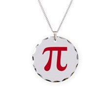 pi white Necklace Circle Charm