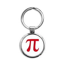 pi white Round Keychain
