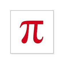 """pi white Square Sticker 3"""" x 3"""""""