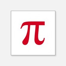 "pi white Square Sticker 3"" x 3"""