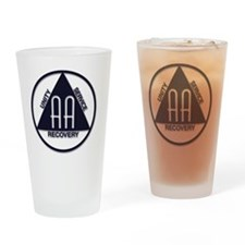 A.A. Logo LARGE Drinking Glass