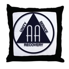 A.A. Logo LARGE Throw Pillow