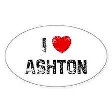 I * Ashton Oval Decal