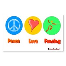 Peace Love Fencing 6000 Decal