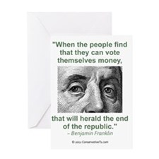 Ben Franklin Money Quote Greeting Card