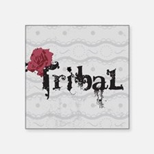 "Tribal Square Sticker 3"" x 3"""