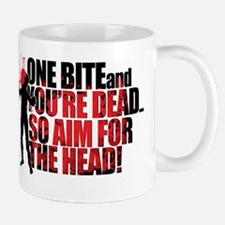 ZOMBIES: ONE BITE AND YOUR DEAD AIM FOR Mug