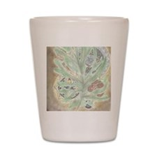 Leaf WIndow Shot Glass