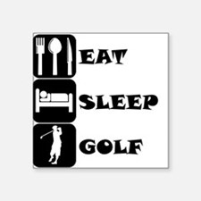 Eat Sleep Golf Sticker