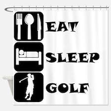 Eat Sleep Golf Shower Curtain