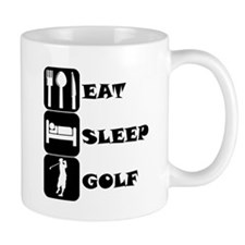 Eat Sleep Golf Mugs
