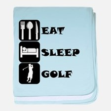 Eat Sleep Golf baby blanket
