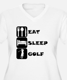 Eat Sleep Golf Plus Size T-Shirt