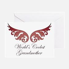 Worlds Coolest Grandma Greeting Card