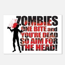 ZOMBIE TEXTY black Postcards (Package of 8)