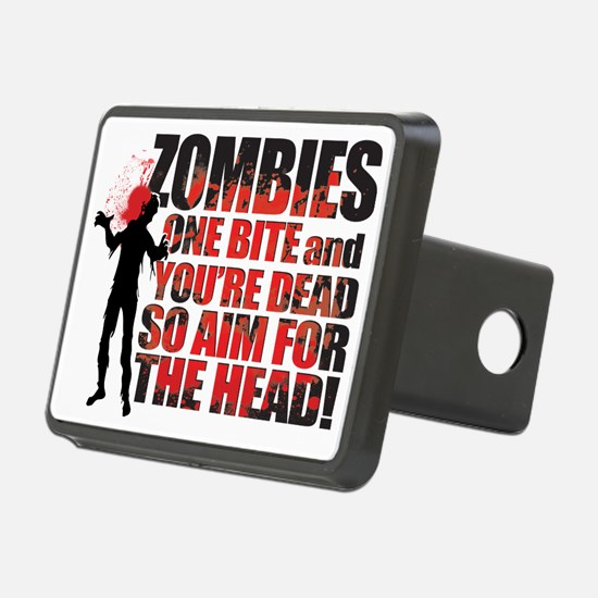ZOMBIE TEXTY black Hitch Cover