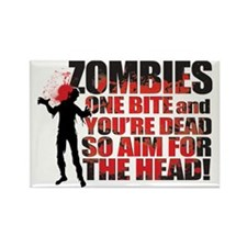 ZOMBIE TEXTY black Rectangle Magnet