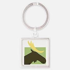 Moose Square Keychain