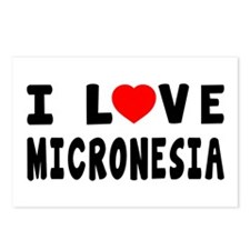 I Love Micronesia Postcards (Package of 8)