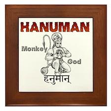 Hindu Hanuman Framed Tile