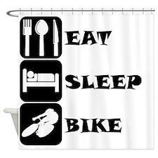 Eat Sleep Bike Shower Curtain