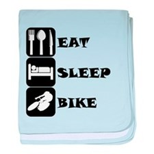 Eat Sleep Bike baby blanket