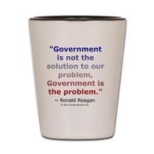 Ronald Reagan on Government Shot Glass