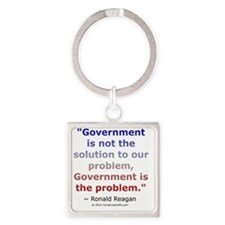 Ronald Reagan on Government Square Keychain