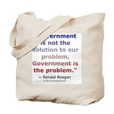 Ronald Reagan on Government Tote Bag