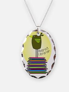 retired librarian BOOK BIRD 2 Necklace