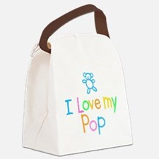 I Love My Pop Canvas Lunch Bag