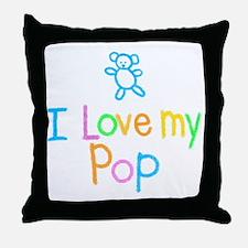 I Love My Pop Throw Pillow