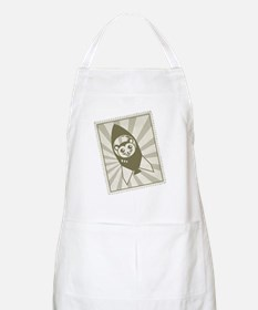Retro Space Hamster Stamp Apron