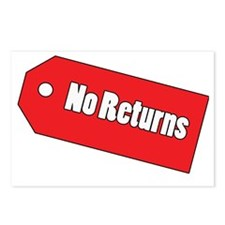 No Returns Postcards (Package of 8)