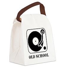 Old School DJ Canvas Lunch Bag
