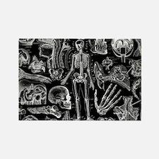 anatomy_black_pillow_cases Rectangle Magnet
