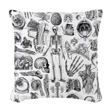 anatomy_W_queen_duvet Woven Throw Pillow