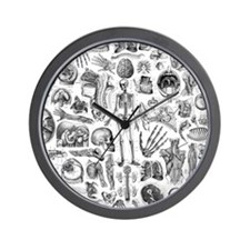 anatomy_W_queen_duvet Wall Clock