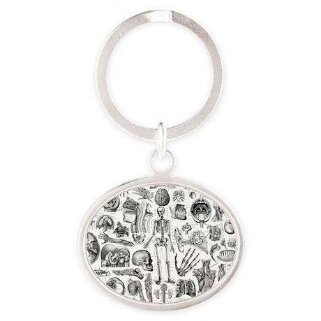 anatomy_W_king_duvet Oval Keychain