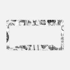 anatomy_white_pillow_cases License Plate Holder