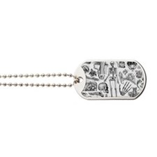anatomy_white_pillow_cases Dog Tags