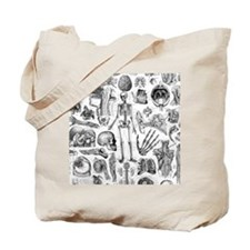 anatomy_W_twin_duvet Tote Bag