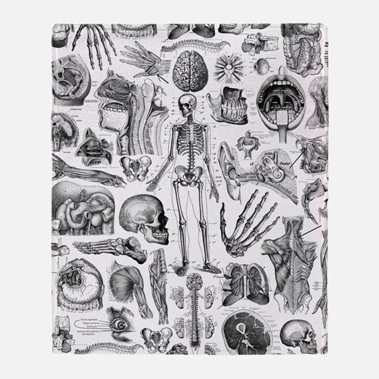 anatomy_W_twin_duvet Throw Blanket