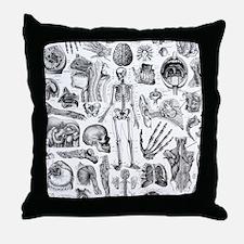 anatomy_W_twin_duvet Throw Pillow