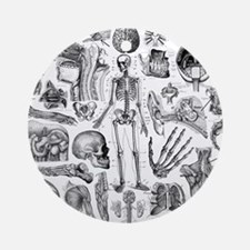 anatomy_W_twin_duvet Round Ornament