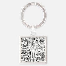 anatomy_W_twin_duvet Square Keychain