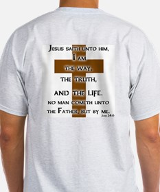 Christian John 14:6 Ash Grey T-Shirt Christian