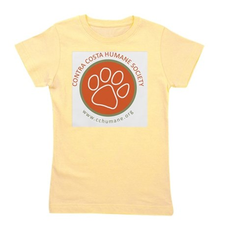 CCHS paw round logo with web site Girl's Tee