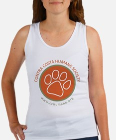 CCHS paw round logo with web site Women's Tank Top