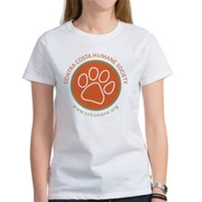 CCHS paw round logo with web site Tee